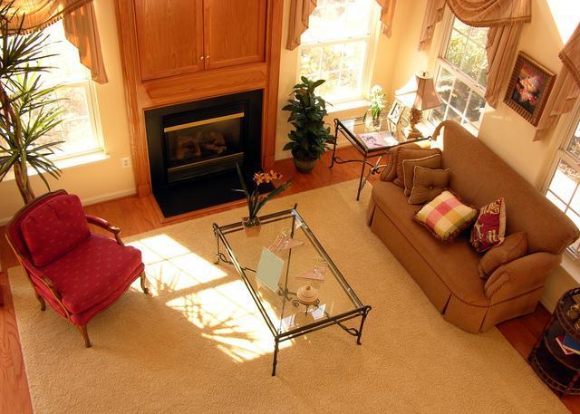 гостиная, фен-шуй в гостиной, фен-шуй в квартире, вид комнаты сверху