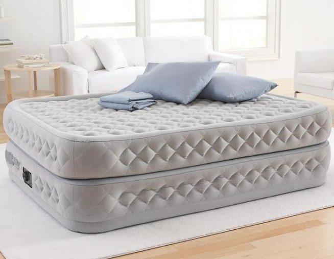 надувная кровать, надувной матрац, надувная мебель, мебель, интерьер спальни