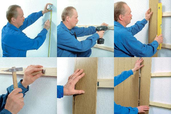 ремонт стен своими руками, облицовка стен деревянными панелями
