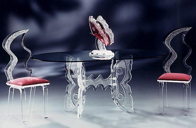 стеклянная мебель, мебель из стекла, стеклянный стол, стеклянный стул, интерьер, стекло в оформлении помещения