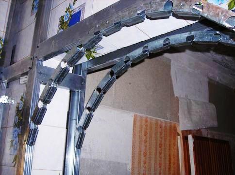 арочные профиля, профиля для арки, установка профилей, арка, арка своими руками, установка арки, металлические профиля