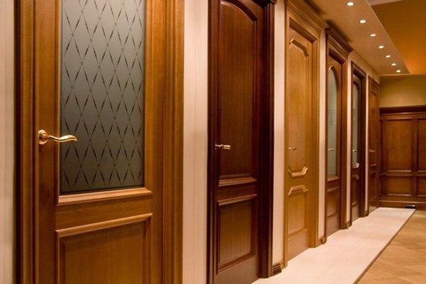 выбор межкомнатных дверей разных расцветок и дизайна в магазине