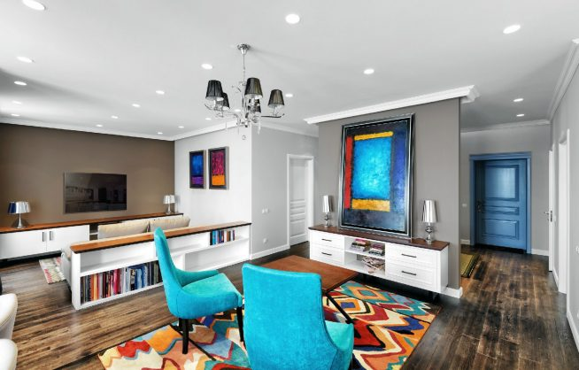 Дизайн интерьера комнаты в стиле китч