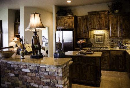 кухня в готическом стиле в коричневых тонах
