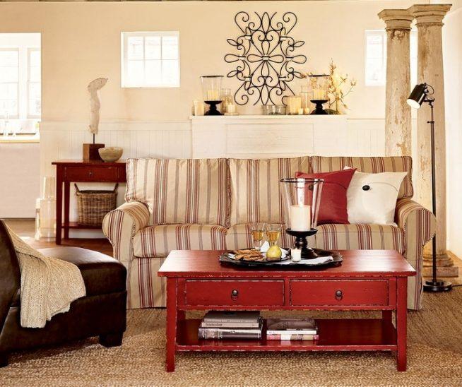 винтажная комната с элементами интерьера из различных эпох