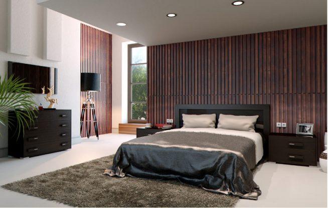 вид современной спальни