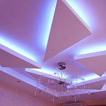 Фигурный потолок со светодиодной подсветкой
