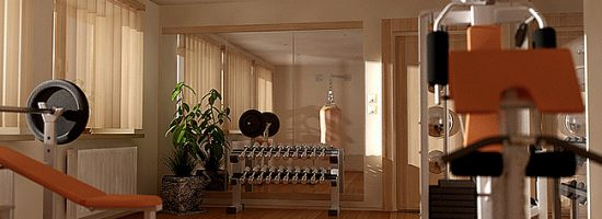 Пример комнаты-спортзала