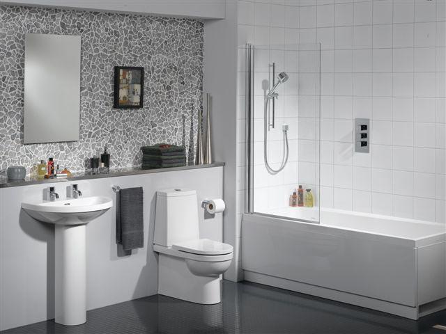 Белая сантехника для ванной комнаты