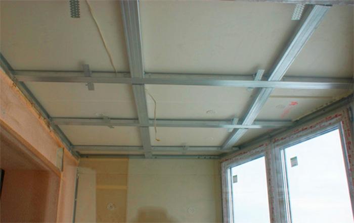 Потолок для лоджии своими руками