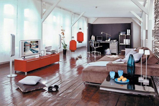 Квартира-студия без внутренних перегородок