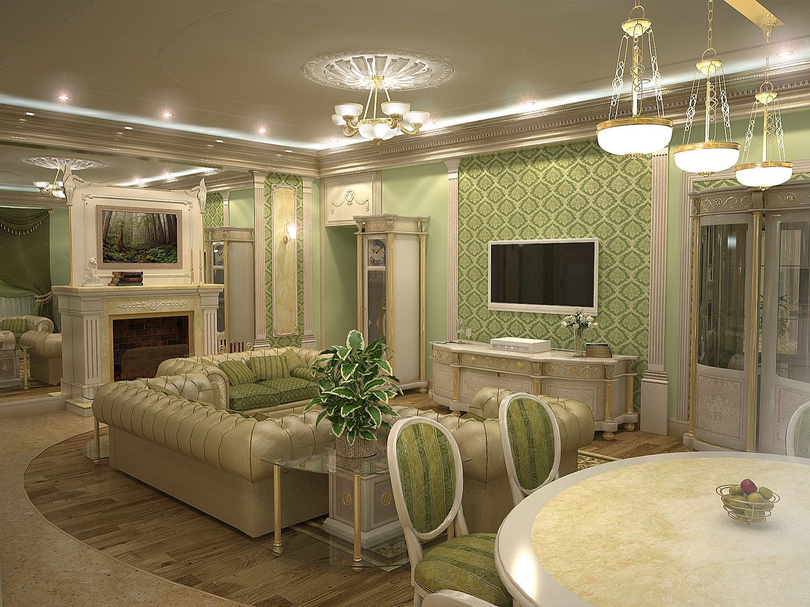 Дизайн интерьера кухни спальни