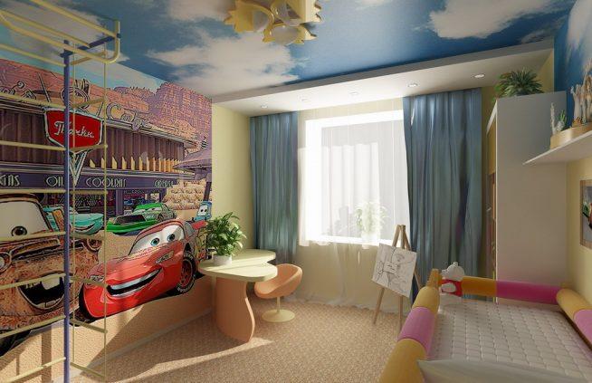 Пример прекрасного естественного освещения детской комнаты