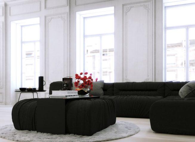Сочетание естественного освещения и мебели