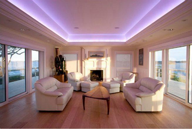 Светодиодное освещение гостиной