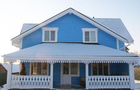 Внешняя отделка деревянного дома вагонкой