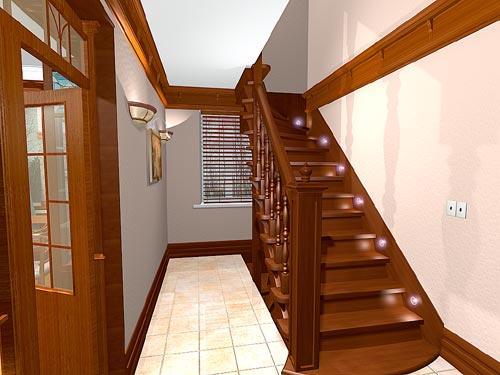 Деревянная лестница в квартире