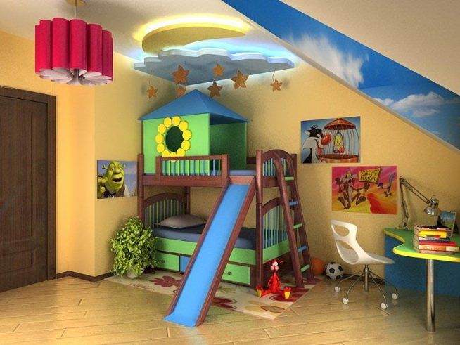 Интерьер комнаты для дошкольника