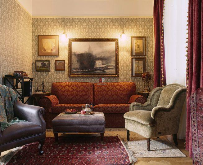 Наличие нескольких ковров в комнате