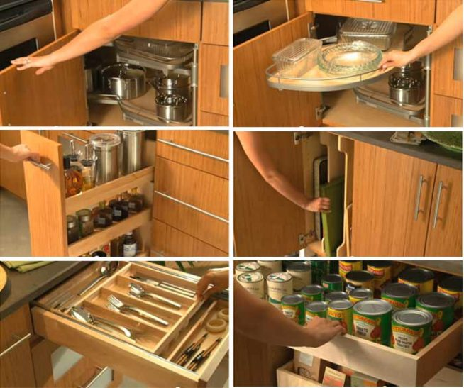 Примеры функциональной мебели для кухни
