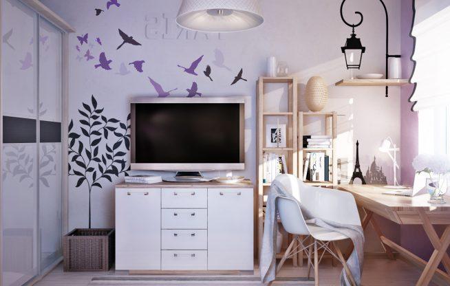Оформление детской комнаты с помощью принтов