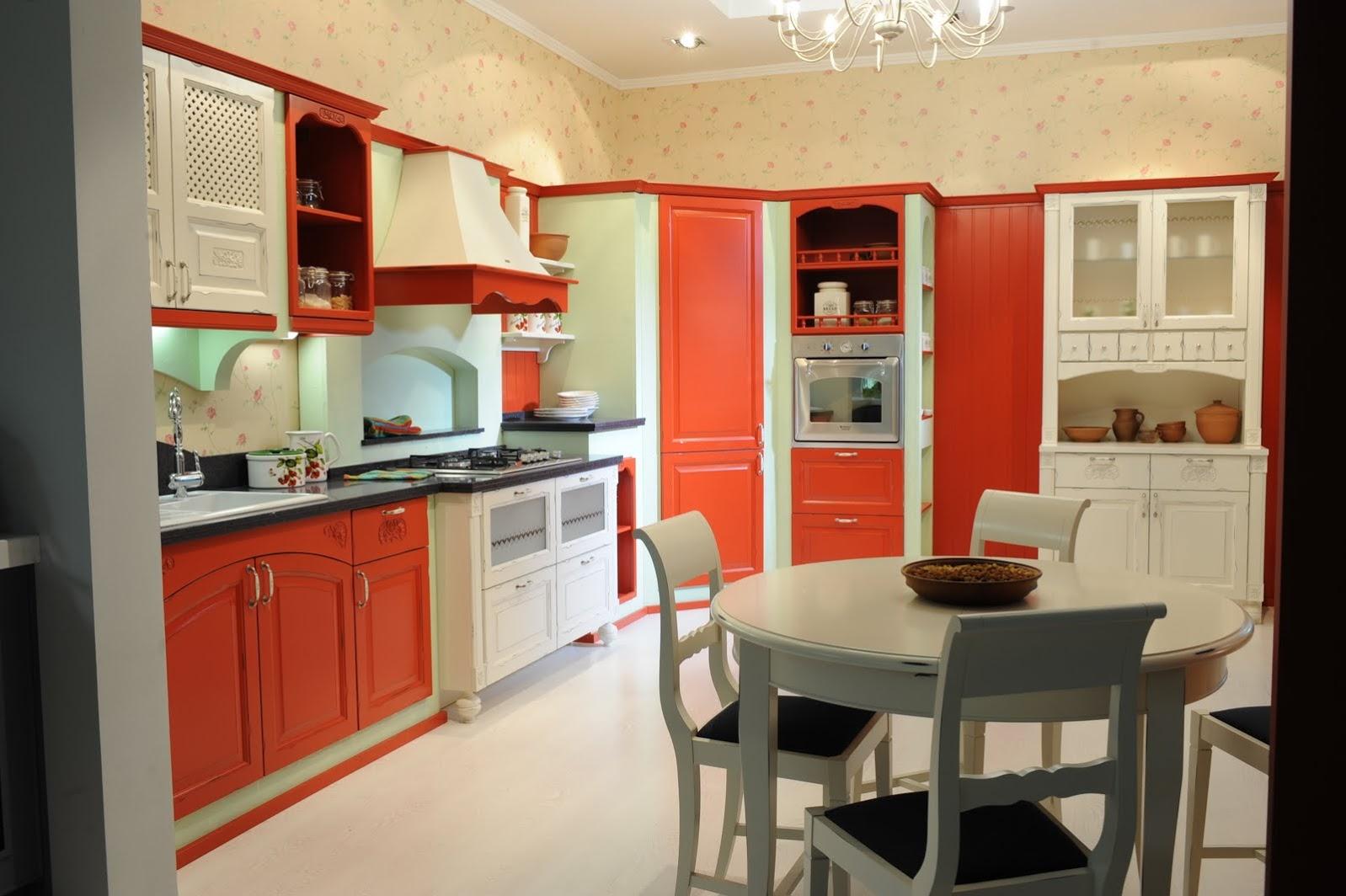 Ретро стиль в интерьере квартиры или комнаты кухни