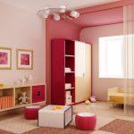 детская комната, разделенная занавеской
