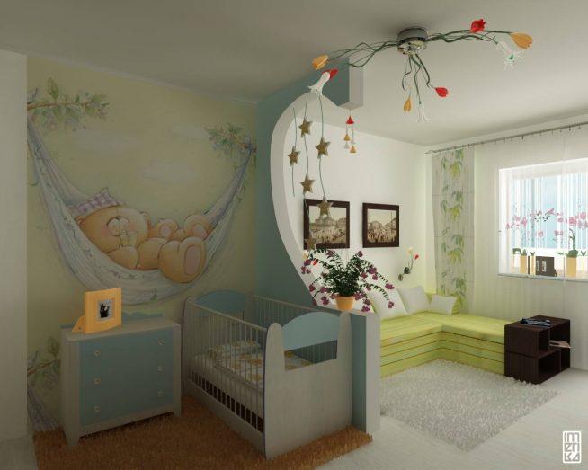 Разделенная детская комната