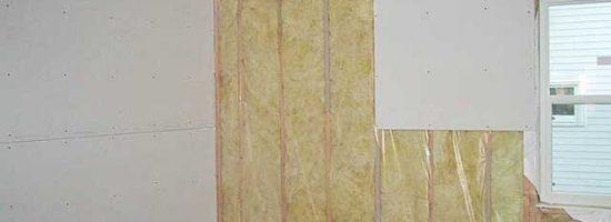 Обшивка стен теплоизоляцией и гипсокартоном