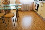 Пробка на полу кухни