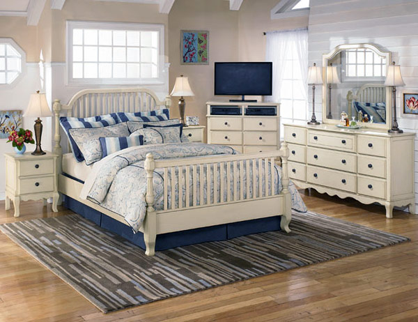 Классический морской дизайн для спальни