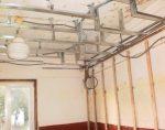 Установка металопрофиля под потолок
