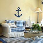 Морской интерьер в гостиной