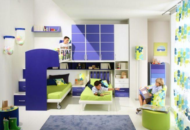 Гармония цветового решения в детской