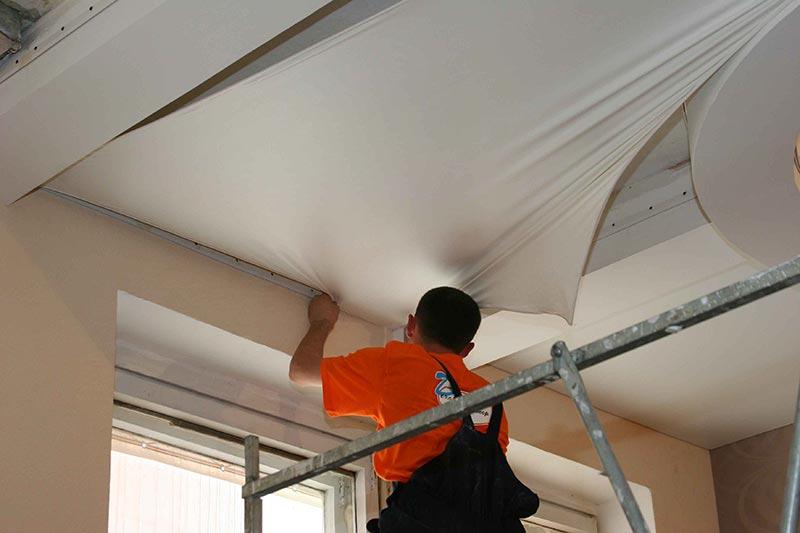 Фото ремонта натяжные потолки