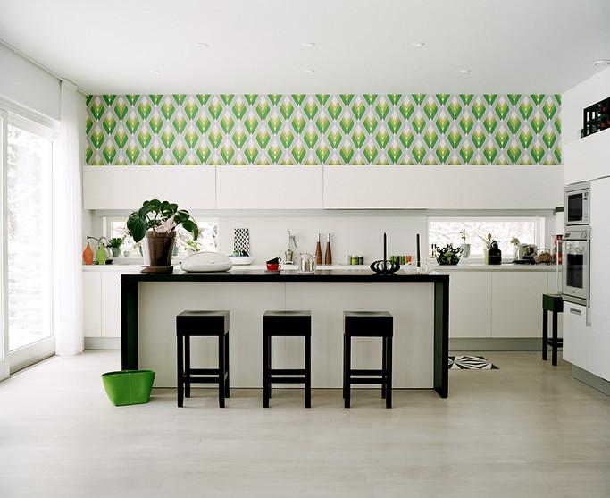 дизайн фото обои кухни
