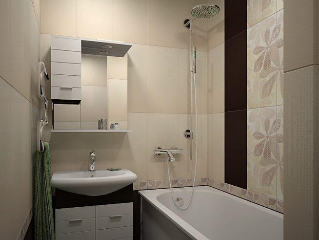 Вертикальное зонирование в компактной ванной