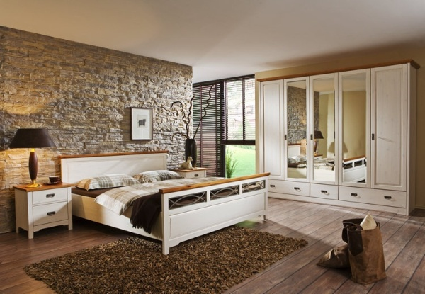 Прогрессивный кантри в интерьере спальни