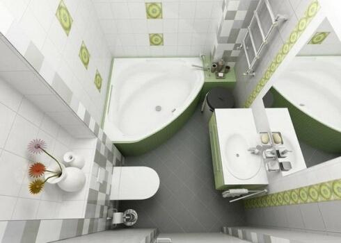 Декоративные аксессуары в маленькой ванной