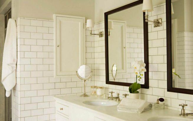 Белая плитка для отделки ванной
