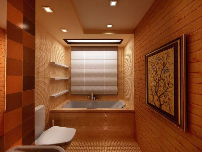 Ванная в стиле средневековой Японии