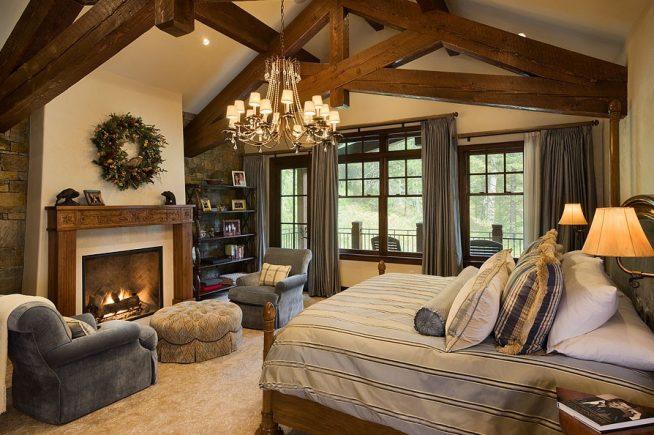 Изысканный уют альпийской спальни