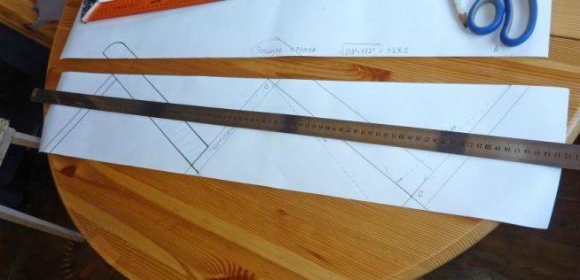 Изготовление шаблона для ступеней под ламинат