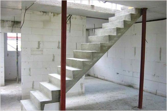 Бетонная лестница под обшивку ламинатом