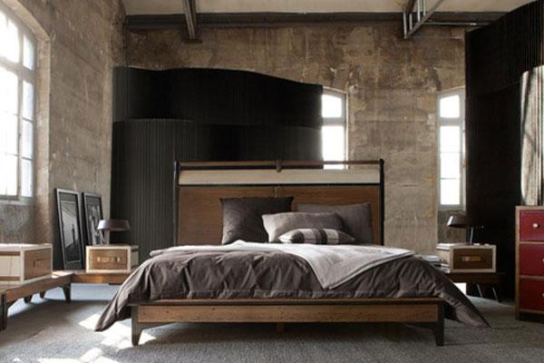 Лофт в спальне: простота и минимализм обстановки