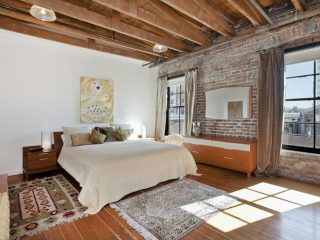 Спальня в стиле лофт: дизайн интерьера на фото (в белом и др цветах)