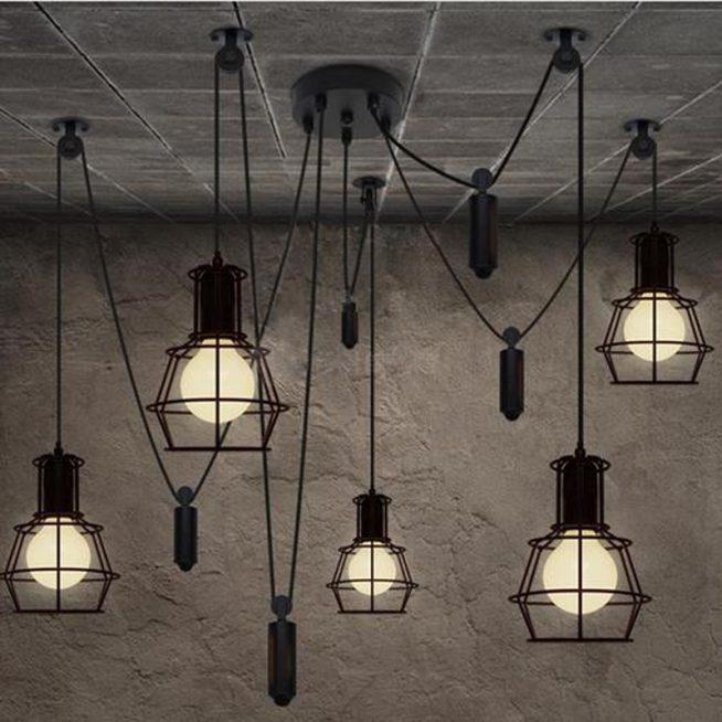 Подвесные светильники для кухни лофт