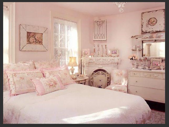 Спальня шебби шик в розовом цвете