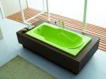 Ванна из акрила может быть окрашена практически в любой цвет