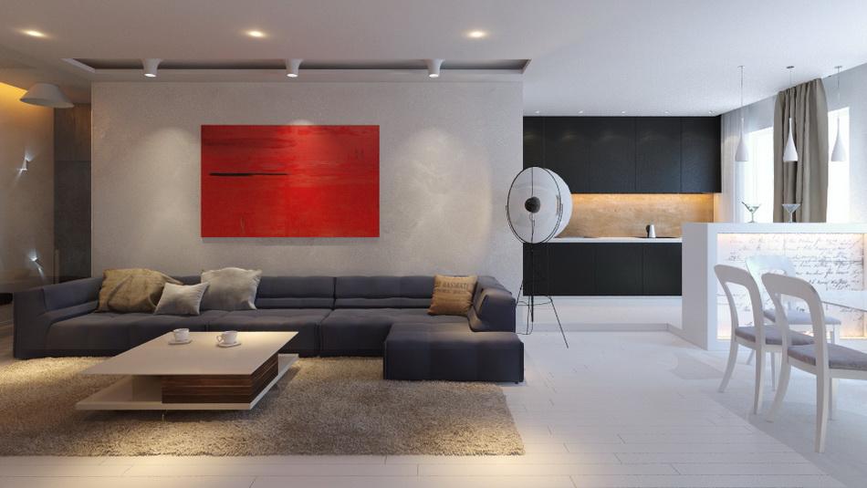 Фото дизайна гостинной в стиле минимализм